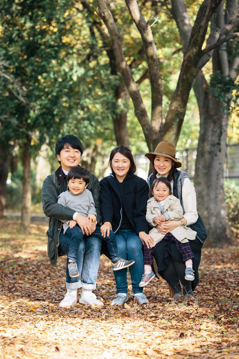 武蔵野中央公園での家族写真撮影会