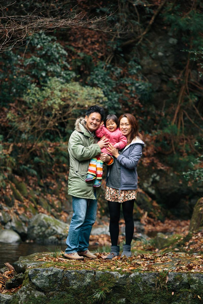 桐生での家族写真