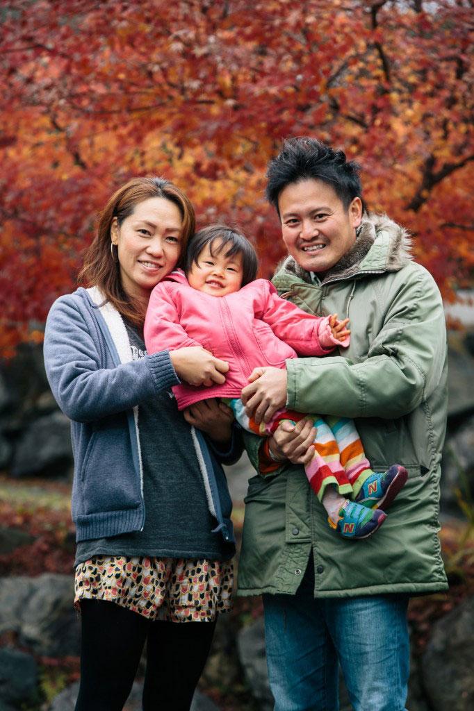 紅葉家族写真