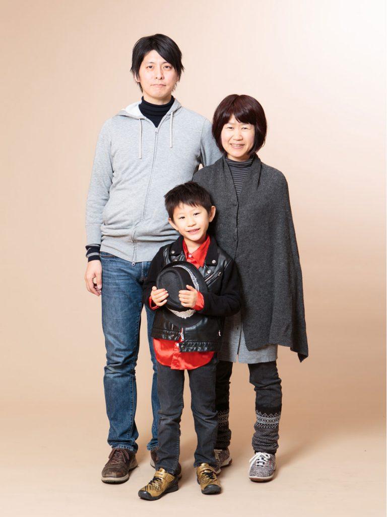 マンション撮影会家族写真3人