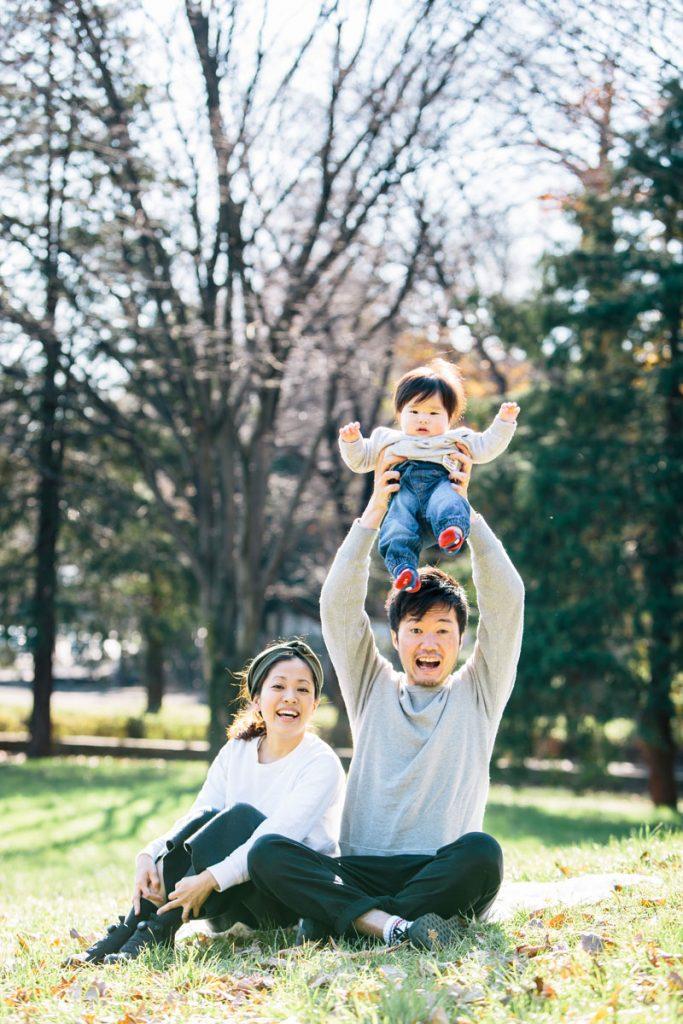 深大寺での家族写真