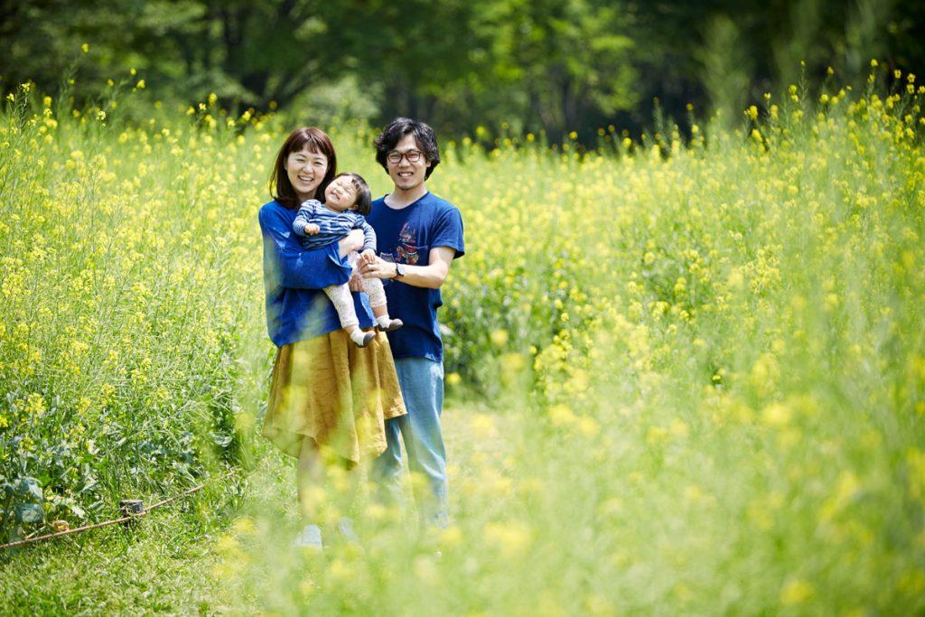 菜の花畑の家族2