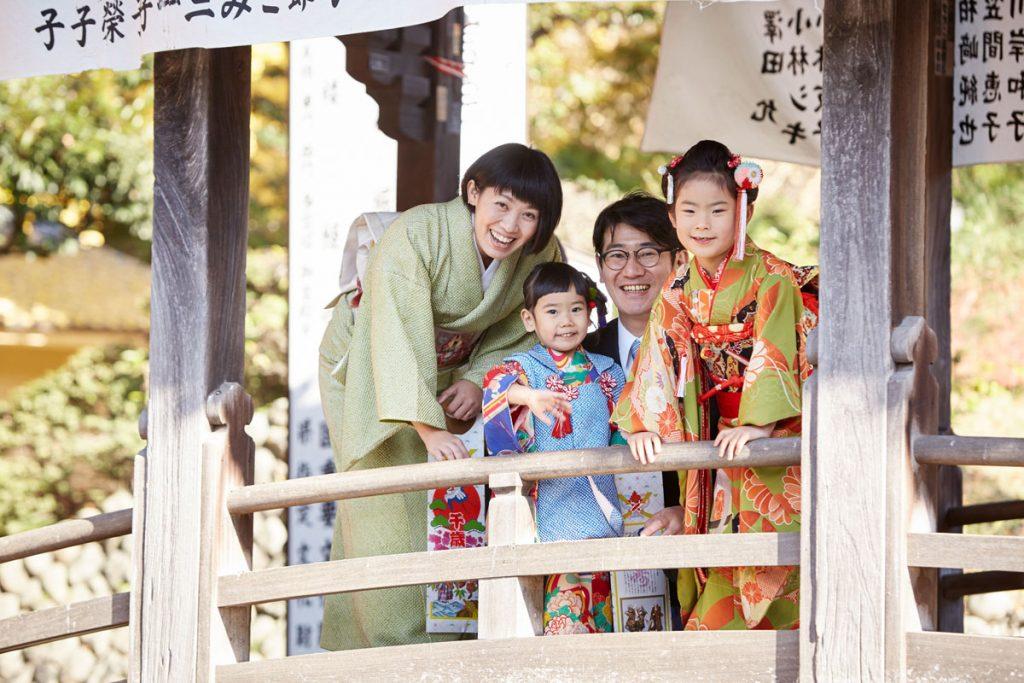 家族みんなで、はい笑顔。